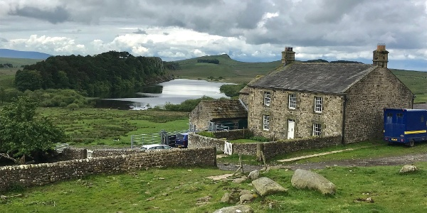 Crag Lough and Local Farmhouse