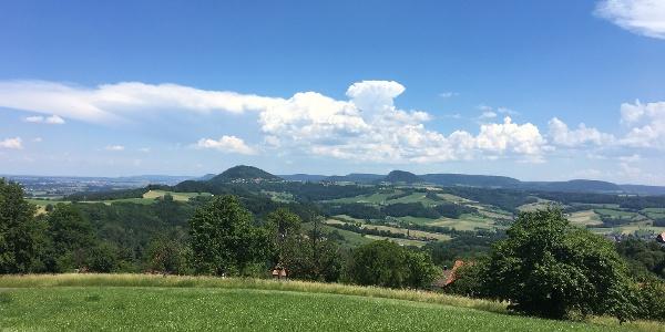 Blick von Hohenstaufen zum Rechberg und Stuifen