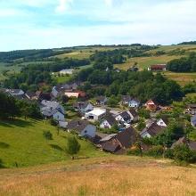 Blick von der Vitaltour auf die Ortschaft Bärenbach