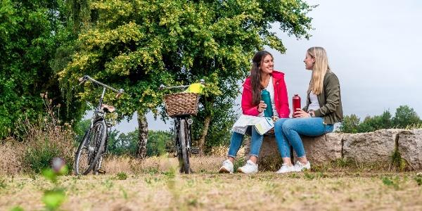 Picknick bei der Radtour