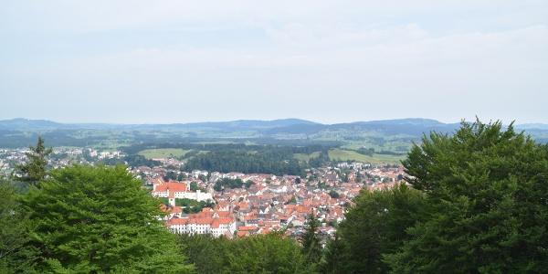 Blick vom Kalvarienberg auf Füssen