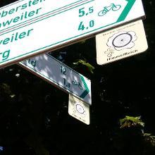 Hinweiszeichen der Thementour Himmelreich