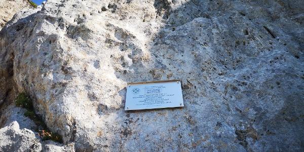 Gedenktafel für die Gründung der Bergrettung