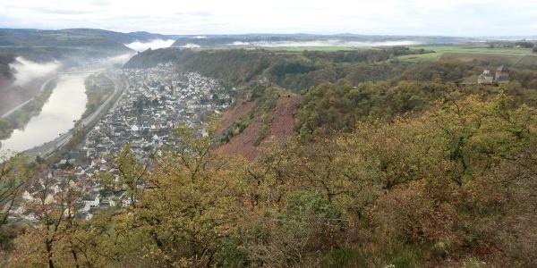 Blick vom Rosenberg auf Kobern-Gondorf