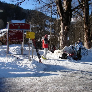 Start in Maria Alm, Unterberg