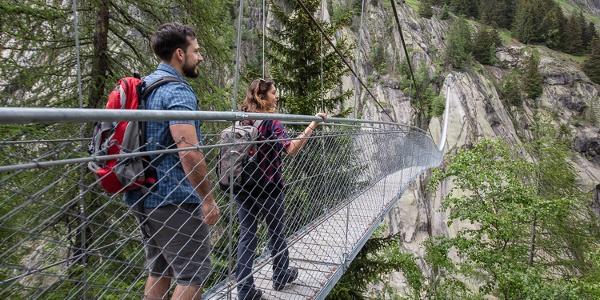 Fiescheralp - Burghütte Fieschertal - Aspi-Titter Hängebrücke - Bellwald