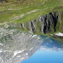 Looking back toward Aosta Valley