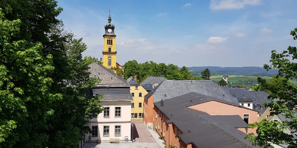 Blick auf die Altstadt Augustusburg