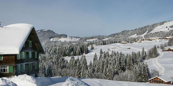 Blick vom Krähenberg nach Sibratsgfäll