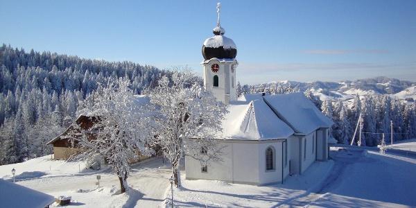 Kurort Heiligkreuz im weissen Winterkleid