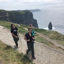 Walking on sunny cliffs