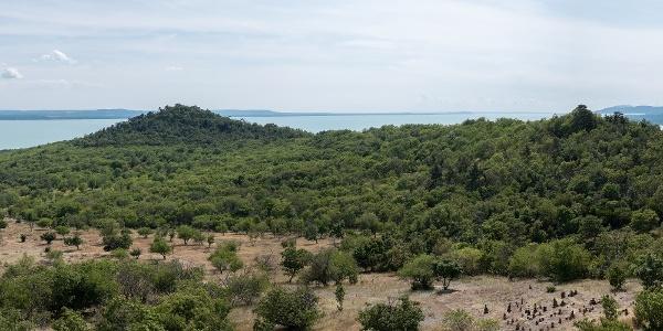 360 fokos panoráma a tihanyi Őrtorony-kilátóból