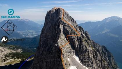 Kriechband auf den Kleinen Watzmann - Übersichtsbild - Topo