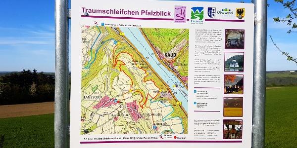 Traumschleifchen Pfalzblick - Wandertafel
