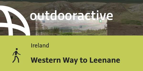 hiking trail in Ireland: Western Way to Leenane