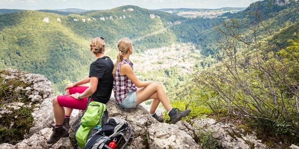 Blick aufs Schloss Lichtenstein
