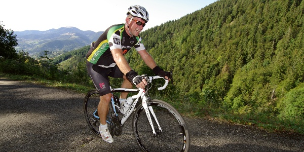 Rennradfahrer beim Schwarzwald Super!