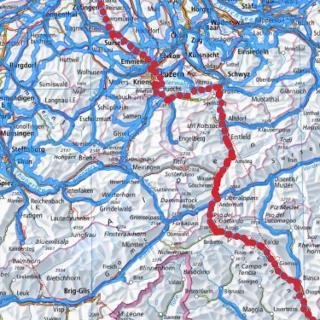 Nord - Süd Route Veloland Schweiz