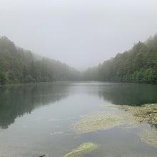 Nebliger Silbersee