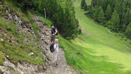 Der kurze Aufstieg zur Wolfrathsauser Hütte