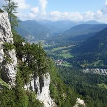 Ausblick vom Aufstieg über den Hohen Gang