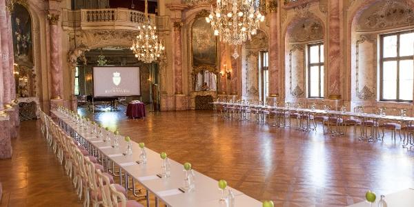 Schloss Bückeburg, Festsaal Bestuhlung in U-Form