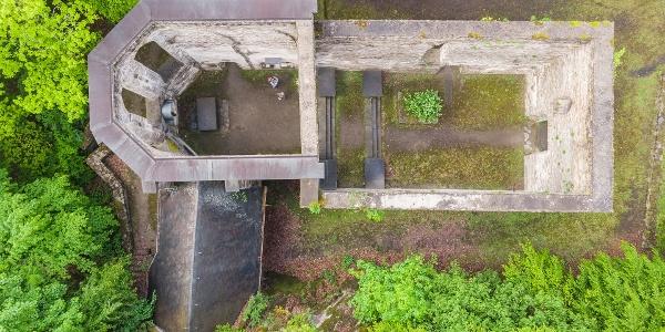 Ruine Hausenborn von oben