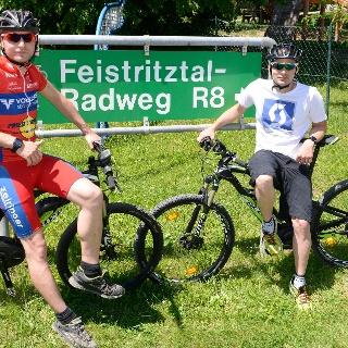 Teilstück von Birkfeld Richtung Strallegg: Feistritztalradweg R8