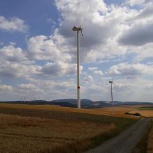 Blick vom Spannagel (oberhalb von Alsenz) über die Nordpfalz
