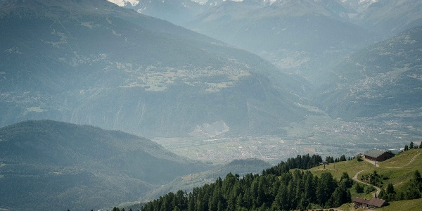 Vue depuis les alpages d'Anzère
