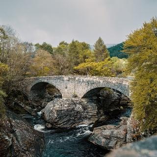 Thomas Telford bridge built in 1831 over the Moriston River at Invermoriston