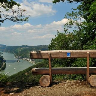 Blick auf Kaub und die Burg Pfalzgrafenstein