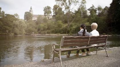 Pause im Schlosspark Berleburg