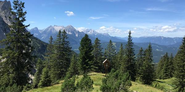 Blick von der Hochlandhütte