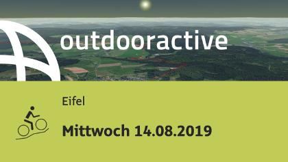 Mountainbike-tour in der Eifel: Mittwoch 14.08.2019