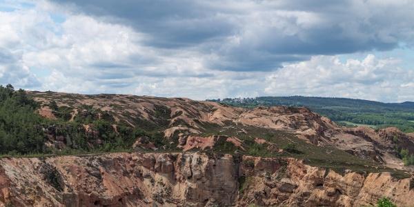 Blick in den ehemaligen Tagebau Kallmuther Berg