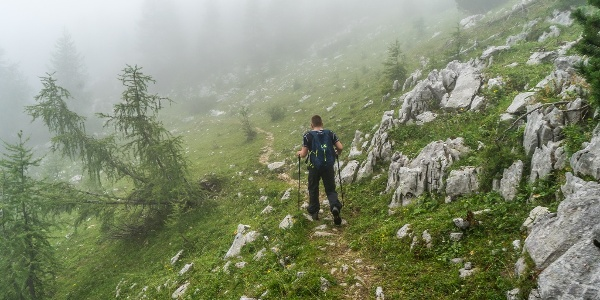 Descending towards Pokljuka