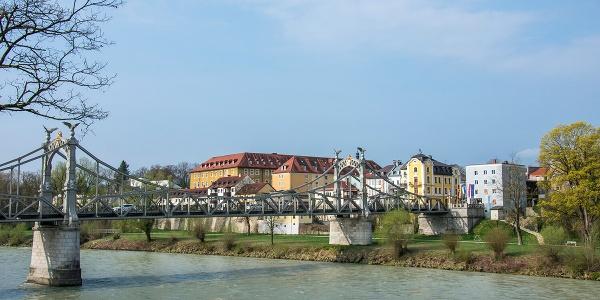 Länderbrücke über die Salzach