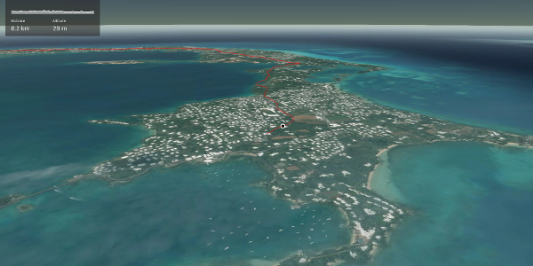 Interactive 3D flight: Bermuda Railway Trail