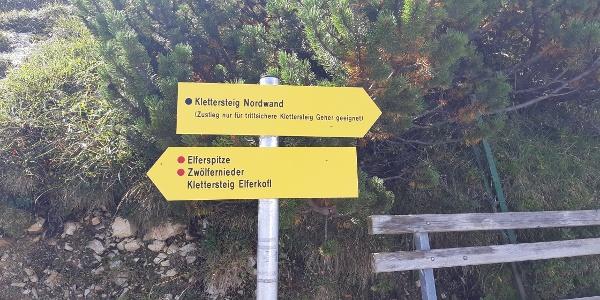 Der Nordwand-Klettersteig ist schwerer
