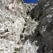 Eine der leichteren Kletterstellen I
