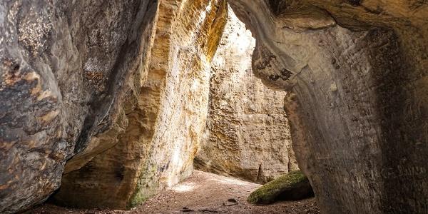 In der Götzingerhöhle (Diebshöhle) am Kleinen Bärenstein