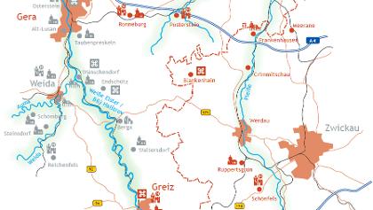 Karte Kulturweg der Vögte - Etappe 1