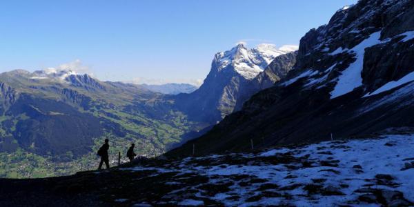 Blick nach Grindelwald
