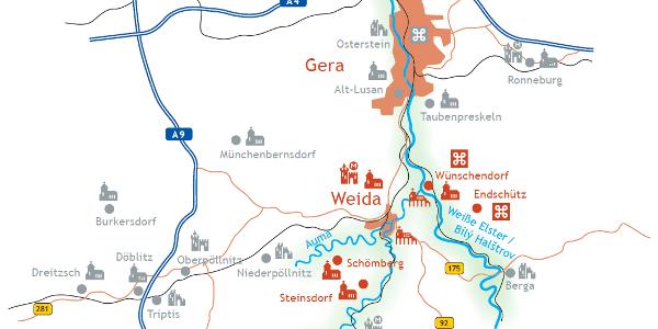 Karte Kulturweg der Vögte - Etappe 3