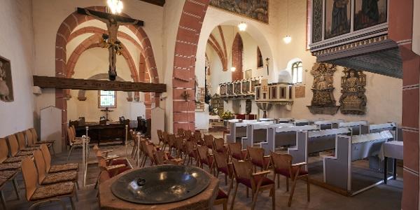 Innenraum der Pfarrkirche St. Veit in Wünschendorf