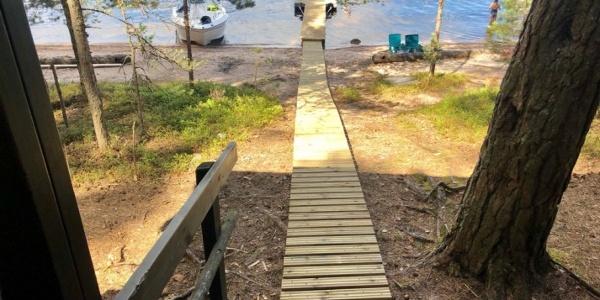Sauna von Satamosaari Strand