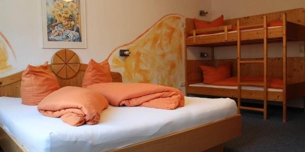 Schlafzimmer Appartment Piz Buin