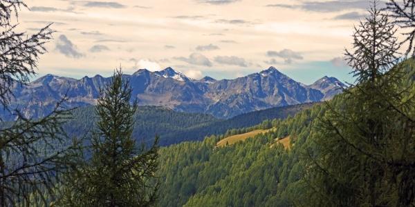 Blick zu den Sarntaler Alpen