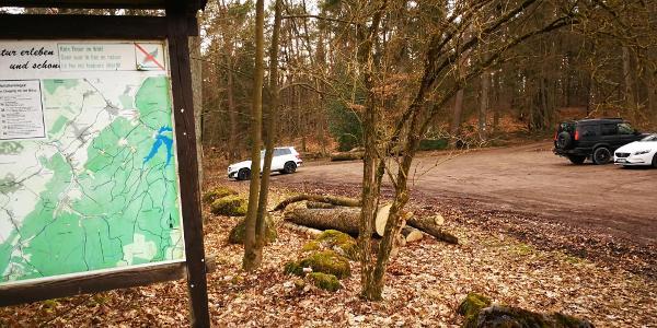 Wanderparkplatz Buche 19 - alte Übersichtskarte